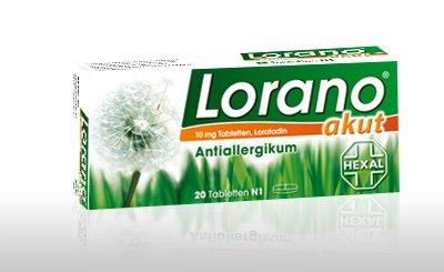Lorano akut Spar-Set 3x100 Tabletten. Bei Heuschnupfen und anderen Allergien.