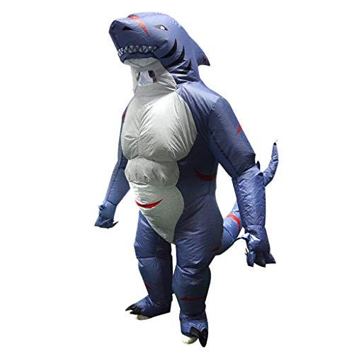 Aufblasbare Kostüm Haifisch - FLAMEER Aufblasbares Haifisch Kostüm Fattsuit Luft Anzug Inflatable Suit Themenparty Zubehör, Geschenk für Kinder und Freunde