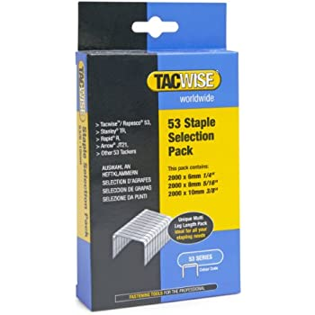 Tacwise Assorted Staples for Staple  53 Series 6 to 10mm 6,000 Pieces