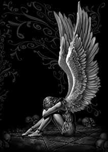 1art1 54535 Gothic - Spiral, Versklavter Engel Poster, 91 x 61 cm