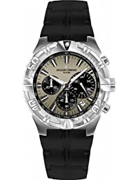 Jacques Lemans Herren-Armbanduhr XL Sport Chronograph Quarz Kautschuk 1-1757E