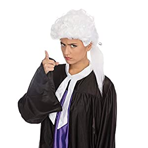 White Court Wig Black Bow 20