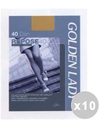 GOLDEN LADY Repose Set 10 Collants 40 den taille de castor brun XL 36g