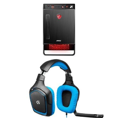 Preisvergleich Produktbild MSI Nightblade X2B Desktop-PC + Logitech G430 Gaming Kopfhörer (geeignet für PC und PS4) blau