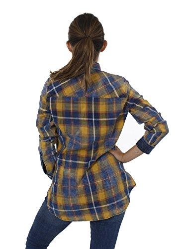 Key Largo - T-shirt de sport - À Carreaux - Manches Longues - Femme Jaune