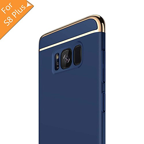 RANVOO Samsung Galaxy S8 Plus Hülle, 3-Teilige Styliche Extra Dünne Harte Galaxy S8 Plus Case Schale Anti-Fingerabdruck Bumper Case Handyhülle Schutzhülle für Samsung Galaxy S8 Plus Hülle, Blau