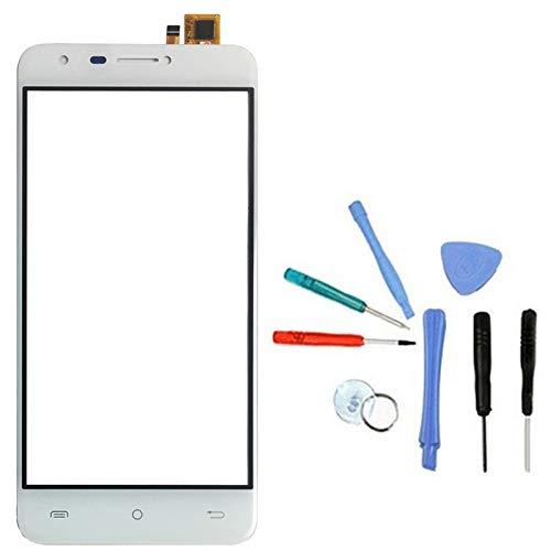 Lankashi Touchscreen Display Touch Screen Front Reparatur Digitizer + Werkzeug Für Cubot (Cubot HAFURY Mix, Weiß)