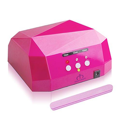 36W Lámpara Secador de Unas, Morpilot LED UV Secador de Uñas con Temporizador Tanto para Uso Doméstico y Belleza Profesional Nail Salon + Lima de uñas