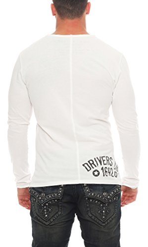 Key Largo Herren T-Shirt LS Scuderia Weiß