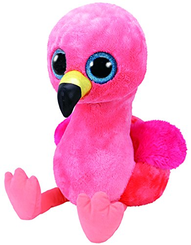 TY 36892 Gilda, Flamingo 42cm, mit Glitzeraugen, Glubschi's, Beanie Boo's, 42 cm (Runde Boo Beanie Große)