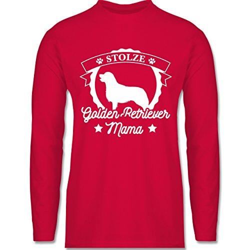 Shirtracer Hunde - Stolze Golden Retriever Mama - Herren Langarmshirt Rot