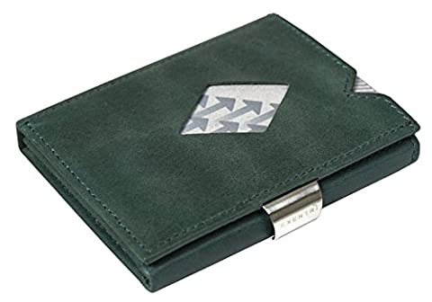 Exentri Wallet – Holds 12 Credit Cards Leather Wallet, Emerald Green (green) - EXD313 Emerald Green