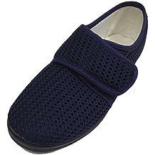 BeaNLo modaycalzado.es Zapatilla Alpargata de Mujer EN Rejilla Azul con Cierre Velcro