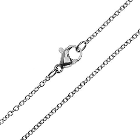Beadaholique Oval Cable Chain Finished Necklace, 18