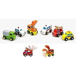 Viga - 59621 - Pack de 6 vehículos de juguete - Madera