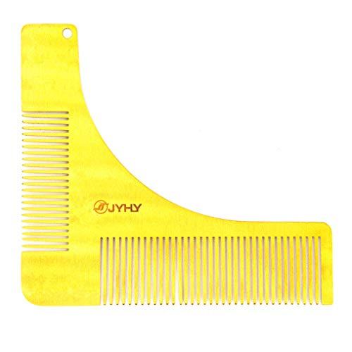 JYHY Bart Schablone Bartpflege Bartschablone Bartformen für Kinnbart Koteletten Hals|Mit Bartkamm für Vollbart und 3 Tage Bart
