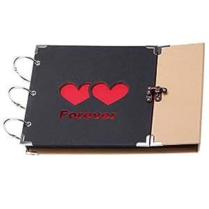 TOOGOOR 31 Sheets DIY Hardboard Photo Album Handmade Scrapbook for Happy Moments