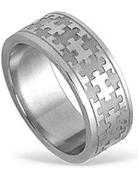 Joyería tendencia zona anillo de acero inoxidable, Puzzle, antialérgico, no 90002548