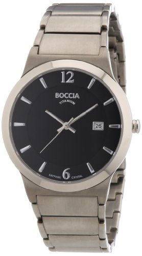 Boccia Herren-Armbanduhr XL Superslim Analog Quarz Titan 3623-02