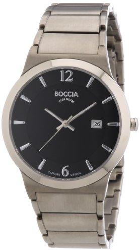 Boccia Herren-Armbanduhr XL Superslim Analog Quarz Titan 3565-02