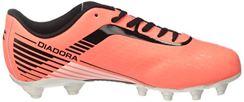 Diadora 7fifty Mg14, Pour les Chaussures de Formation de Football Homme Rouge (Rosso Fluo/nero)