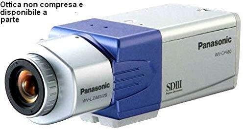 CCTV Kamera Panasonic wv-cp480 Super Dynamic III g/Tag-Nacht-Kamera mit ABF für 24 Stunden am Tag und Überwachung Panasonic Pal-tv