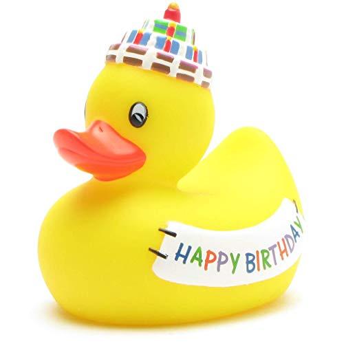 """Badequietscheentchen """"Happy Birthday"""" - Gummiente"""