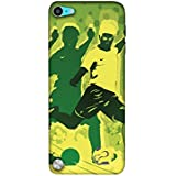 Casotec Football Player 3D Printed Hard Back Case Cover for Apple iPod Touch 5th Gen