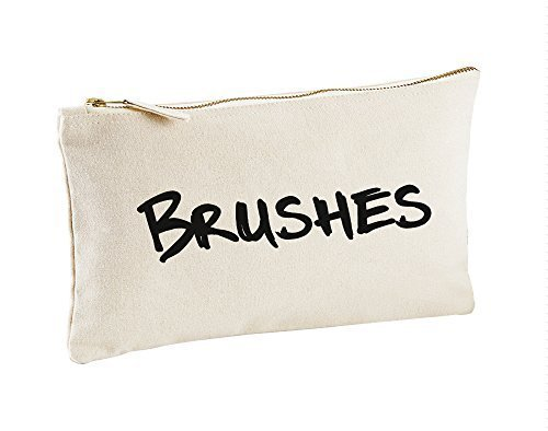 Toile naturelle Pinceaux Make Up sac cadeau Idée Cadeau Sac cosmétique trousse de toilette cadeau