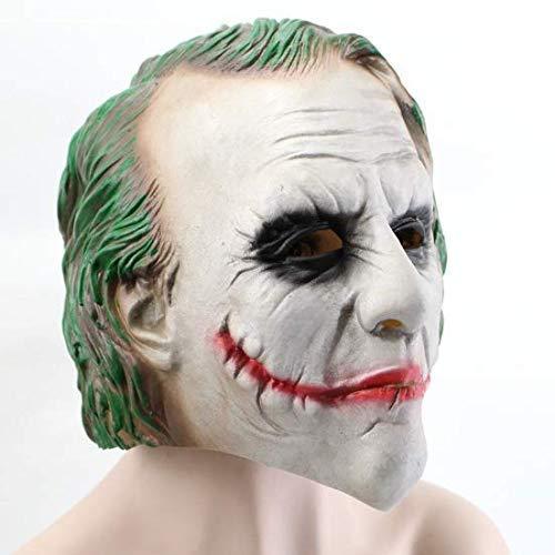 Knight Kostüm Für Erwachsene Dark - BK8Ⓡ Joker Mask Dark Knight - perfekt für Karneval & Halloween - Kostüm für Erwachsene - Latex, Unisex one Size fits All