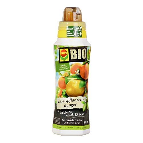COMPO BIO Zitruspflanzendünger für alle Zitruspflanzen-Arten, Natürlicher Spezial-Flüssigdünger, 500 ml (Früchte Sauberen Die)