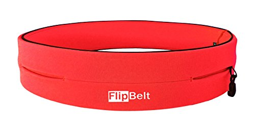Flipbelt Classic - Cinturón multibolsillo, color naranja, talla XL
