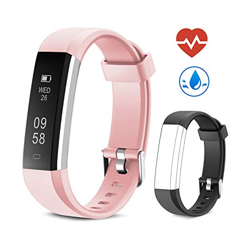 Yuanguo Fitness Armband mit Pulsmesser Fitness Tracker Schrittzähler Uhr IP67 Wasserdicht Aktivitätstracker Fitnessuhr mit Schlafüberwachung Kalorienzähler Vibrationsalarm für Kinder Damen Herrn