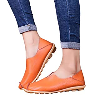 Hupoo_ ❤ Women Round Toe Solid Color Slip-On Shoes Flat Single Shoes Peas Boat Shoes
