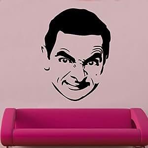 """Kult Kanvas 60x 80cm grande """"Mr Bean adesivo da parete, colore: Nero, Silver, 120 x 160 cm X-Large"""