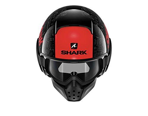 Shark Motorradhelm Hark Drak Tribute RM, Schwarz/Rot, Größe M