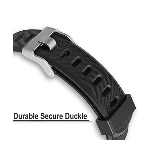AITOO ID115 Plus - Correas de repuesto de TPU para reloj de seguimiento de fitness ID115 Plus HR (5 colores: negro/azul… 3