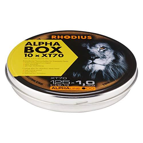 RHODIUS extra dünne INOX Trennscheiben Metall XT70 BOX Ø 125 mm für Winkelschleifer Metalltrennscheibe 10 Stück