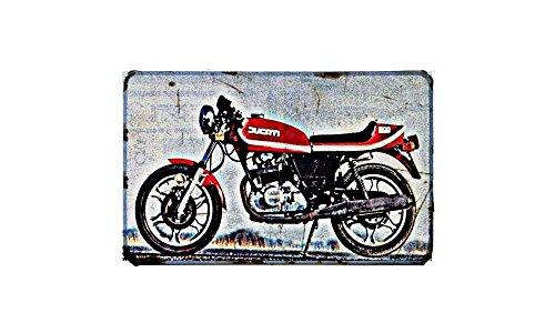 mo Motorbike A4 Sign Aluminium Metal Retro Bike (Desmos)