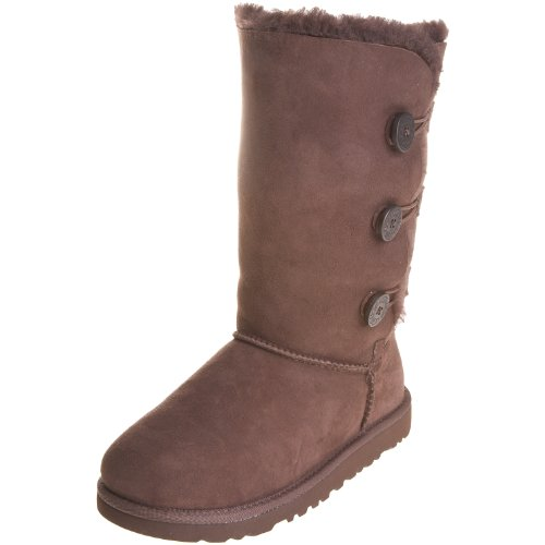 UGG Kid's Bailey Button Triplet , Bottes mixte enfant Chocolat