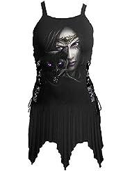 Spiral cats robe eyes laceup trägerkleid seitenschnürung avec robe