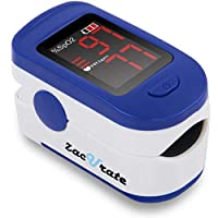 Zacurate Portable and Reliable Fingertip Pulse Oximeter, Accurate Heart Rate Monitor with Lanyard and Batteries Included (Blue)