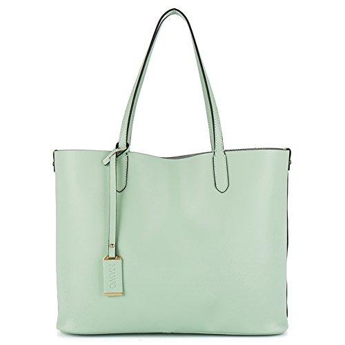 NAWO Sacs à Main En Cuir Designer Shoulder Tote Top-Poignée Bag Clutch Purse Pour Les Femmes Jaune vert