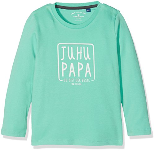 TOM TAILOR Kids interlock slogan t-shirt, Camicia Bimba 0-24, Verde (Clean Mint), 80