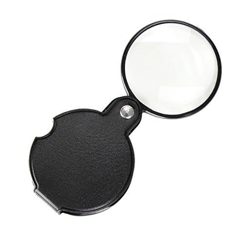 10x Mini-Lupe Lesung Einschlaglupe Glas Schmuck Lupe mit Ledertasche vergrößernd 60mm Mini für Münzen Inspektion Briefmarken und die Reise