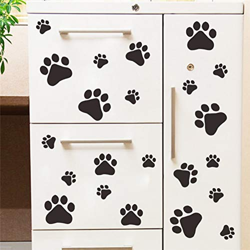 KIHUI Cartoon Hund Katze Walking Paw Print Wandaufkleber Für Kinderzimmer Aufkleber Haustier Raumdekoration WallArt Schüssel Auto nach Hause Aufkleber Poster -