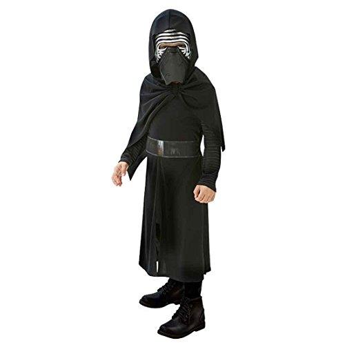 Der Wars Star Sith Kostüm - Kylo Ren Kostüm Kinder Star Wars Kinderkostüm L - 140 cm Dunkler Jedi Faschingskostüm Sith Verkleidung Jediritter Starwars Robe mit Maske Karnevalskostüm Jungen