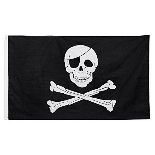 Brubaker Flagge Fahne \'Skull & Bones\' Piratenfahne große Hissfahne 150 x 90 cm
