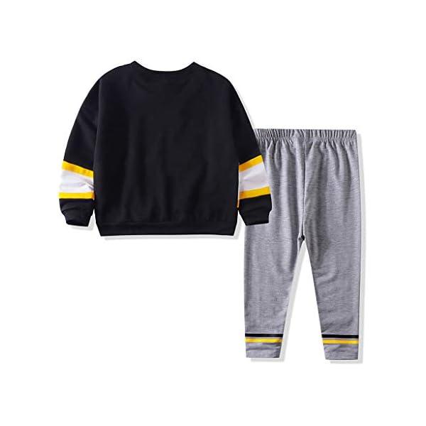 Tefamore Conjuntos Ropa Bebé Niños Moda Patchwork Rayas Camiseta Tops + Pantalones Conjuntos 2