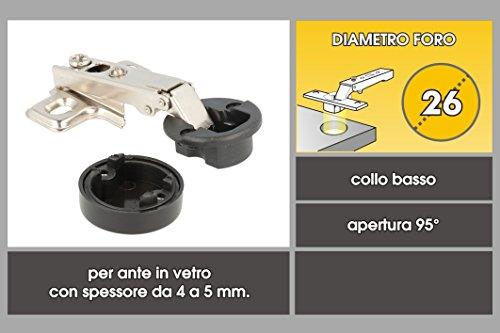41xpXu9uJHL - Home System r09058dos bisagras para puertas cristal Diamentro 26mm, niquelado